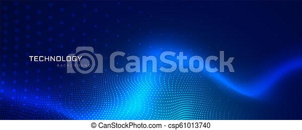 bleu, technologie, résumé, bannière, conception - csp61013740