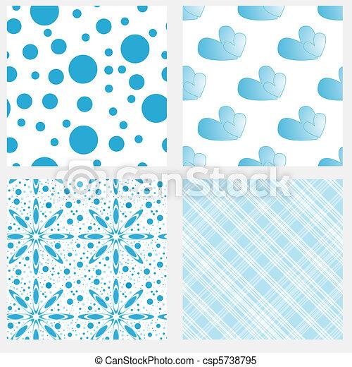 Bleu Textures Blanc Carrelage Seamless