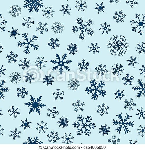 bleu, vecteur, neige, fond, seamless - csp4005850