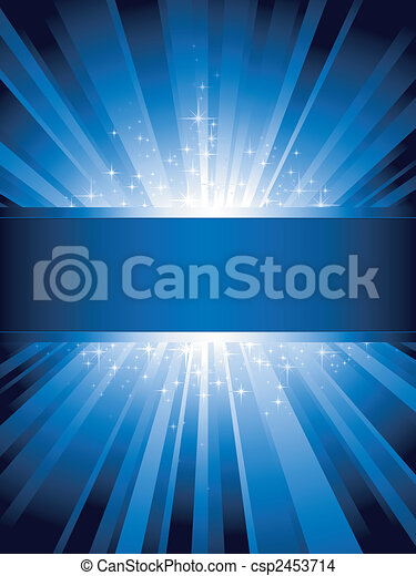 bleu, vertical, éclater, lumière, étoiles, copy-space - csp2453714