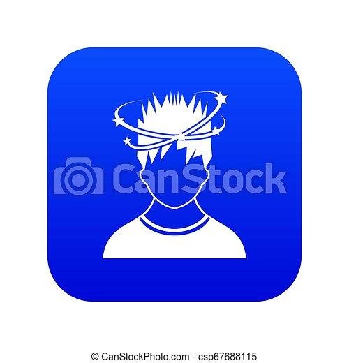 bleu, vertige, homme, icône, numérique - csp67688115