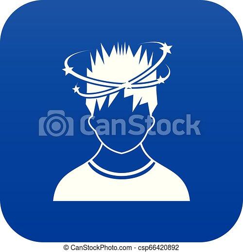 bleu, vertige, homme, icône, numérique - csp66420892