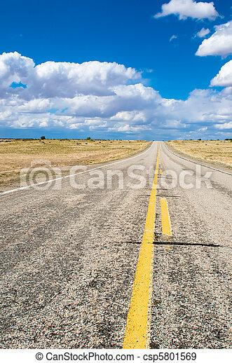bleu, vibrant, image, ciel, autoroute - csp5801569