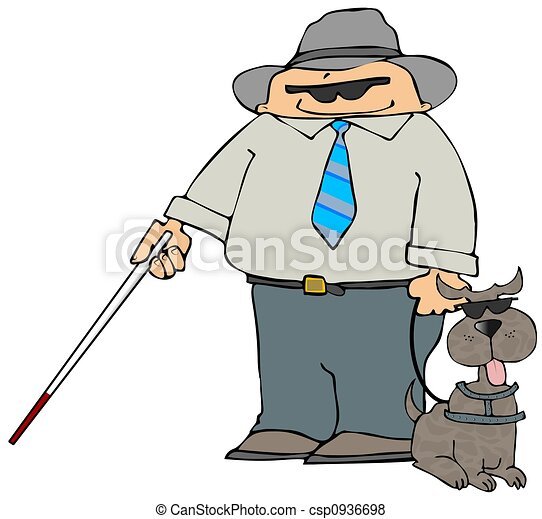 Blind Man With A Dog - csp0936698