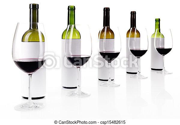 Blind wine tasting on white - csp15482615