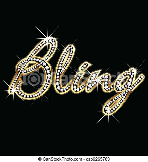 Bling bling word vector - csp9265763