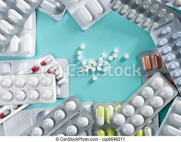 blist, farmaceutisk, medicinsk, pillerne, baggrund - csp6646211