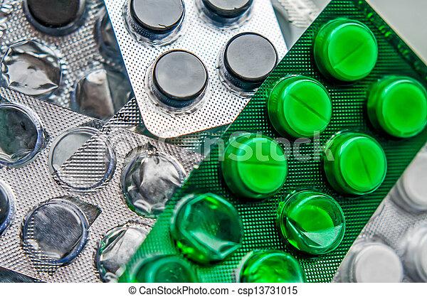 Blister of pharmaceutical pills - csp13731015
