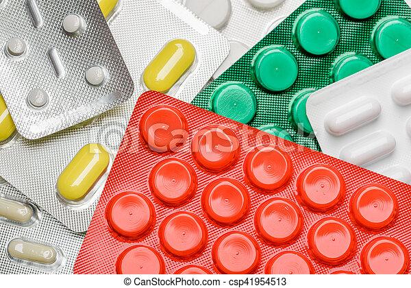 Blister of pharmaceutical pills - csp41954513