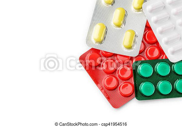 Blister of pharmaceutical pills - csp41954516