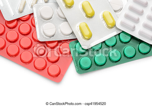 Blister of pharmaceutical pills - csp41954520