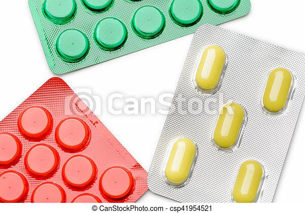 Blister of pharmaceutical pills - csp41954521