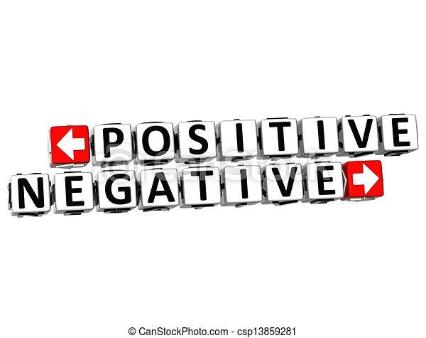 bloc, déclic, texte, positif, bouton, négatif, 3d, ici - csp13859281