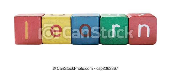 bloc, enfants, apprendre, lettres - csp2363367
