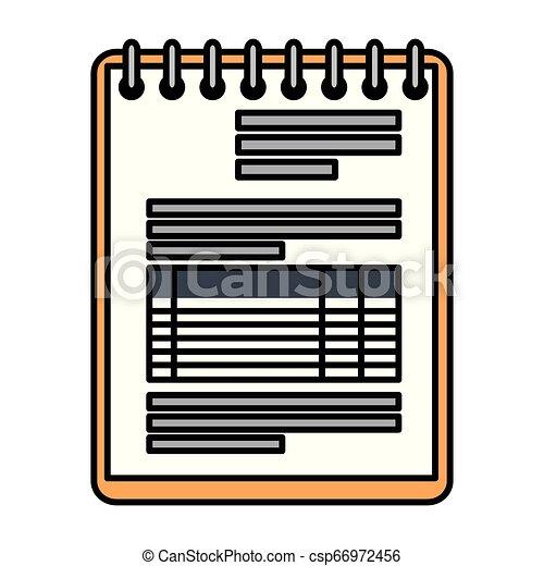 bloc-notes, isolé, bureau, icône - csp66972456