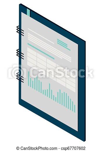 bloc-notes, isolé, bureau, icône - csp67707602