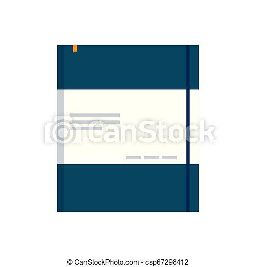 bloc-notes, isolé, bureau, icône - csp67298412