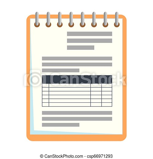 bloc-notes, isolé, bureau, icône - csp66971293