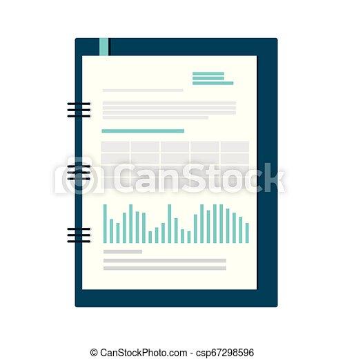 bloc-notes, isolé, bureau, icône - csp67298596