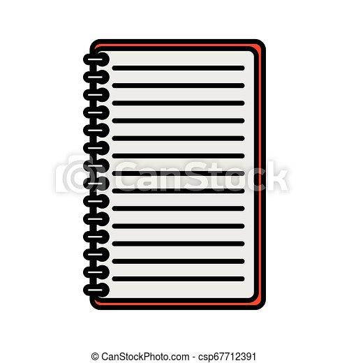 bloc-notes, isolé, bureau, icône - csp67712391