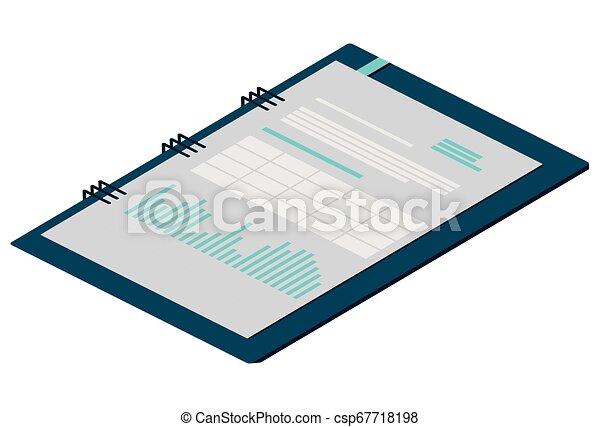 bloc-notes, isolé, bureau, icône - csp67718198