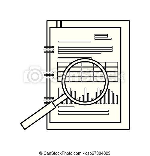 bloc-notes, isolé, bureau, icône - csp67304823