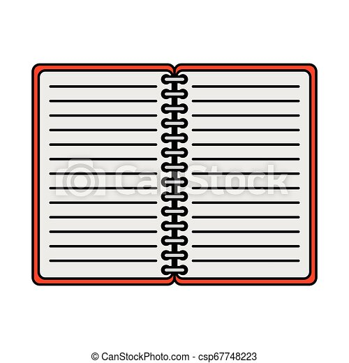 bloc-notes, isolé, bureau, icône - csp67748223