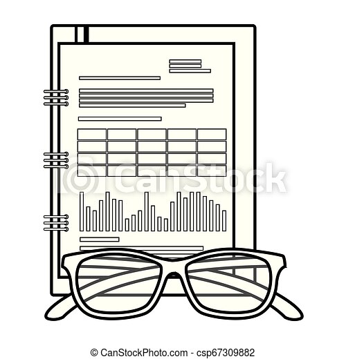 bloc-notes, isolé, bureau, icône - csp67309882