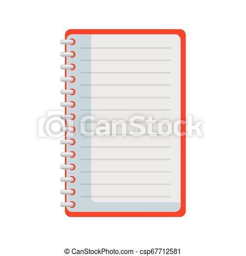 bloc-notes, isolé, bureau, icône - csp67712581