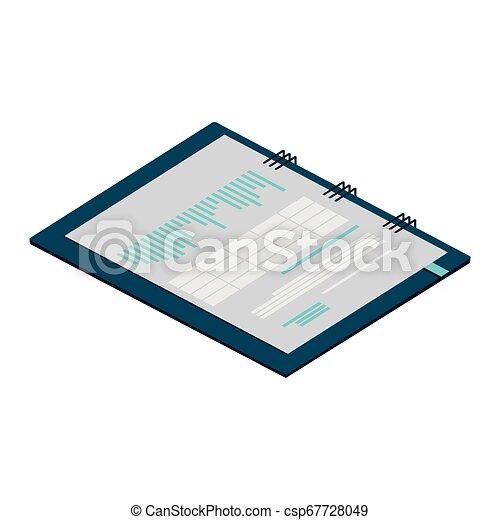 bloc-notes, isolé, bureau, icône - csp67728049