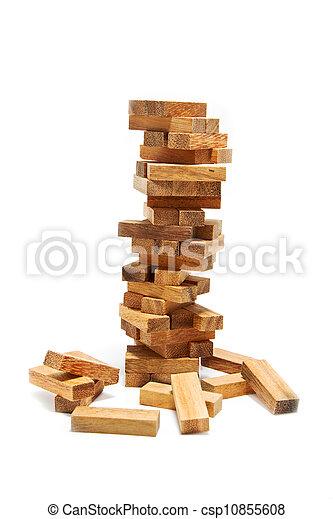 blocchi, costruzione, rischio, instabilità, concetto - csp10855608