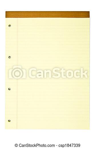 blocco note, giallo - csp1847339