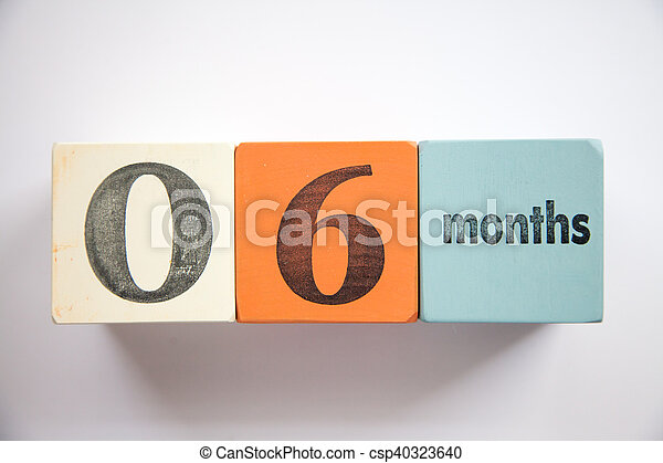 Block numbers and letters 6 months - csp40323640