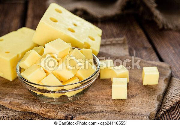 Block of Cheese - csp24116555