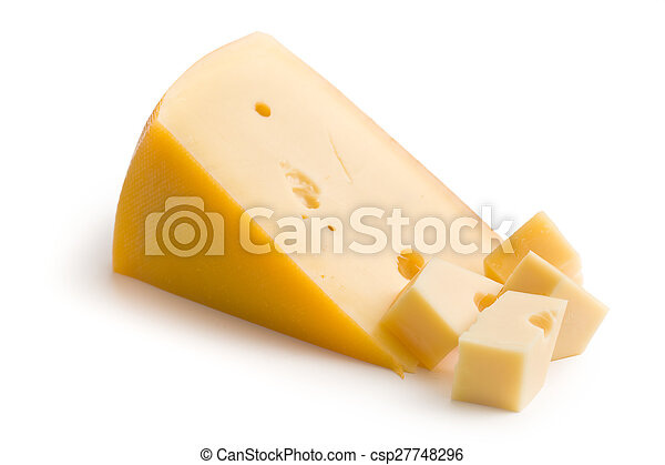 block of edam cheese - csp27748296