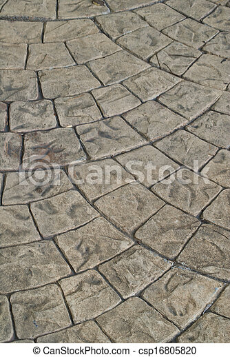 Block Paving Old grey pavement in a pattern texture