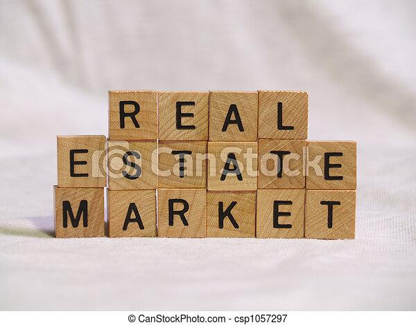 Block Real Estate Market - csp1057297