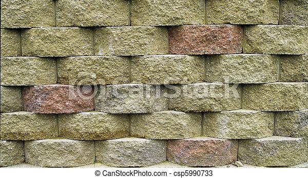 Block Retaining Wall - csp5990733