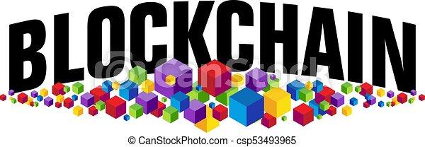 Blockchain Cubes - csp53493965