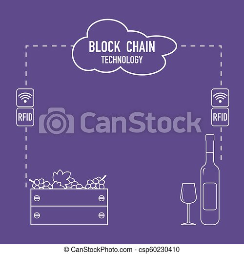 Blockchain. RFID technology. Winemaking. - csp60230410