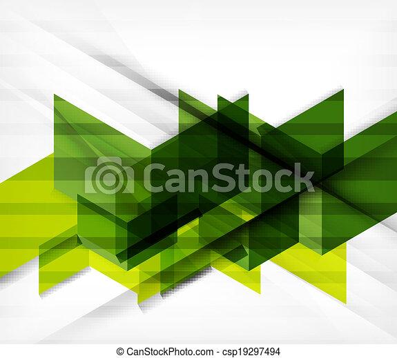 Blocks geometric abstract background - csp19297494
