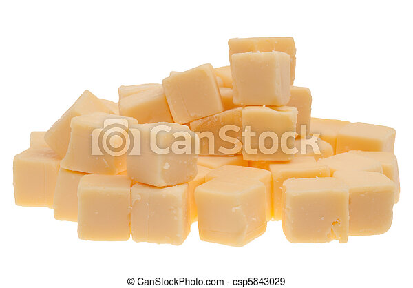 blocks of cheese isolated - csp5843029