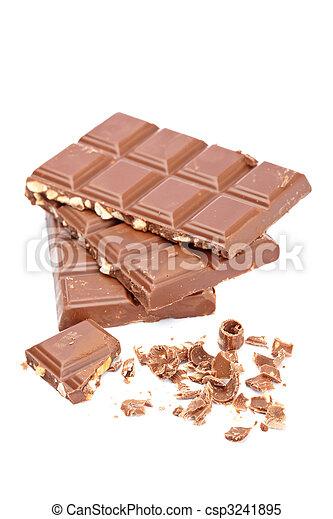 Blocks of chocolate - csp3241895