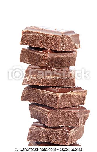 Blocks of chocolate - csp2566230