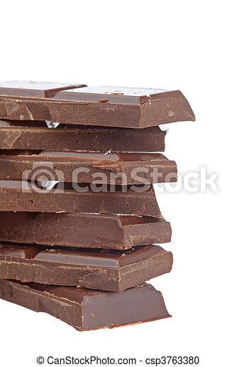 Blocks of chocolate - csp3763380