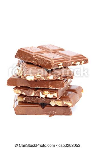 Blocks of chocolate - csp3282053