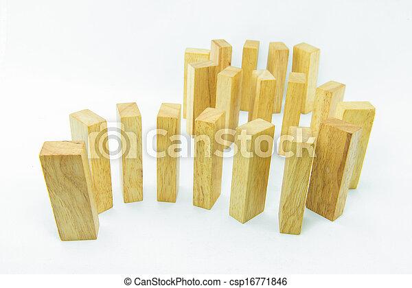 Blocks of wood isolated on white background - csp16771846