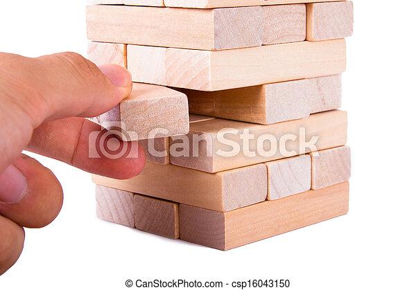 Blocks of Wood - csp16043150