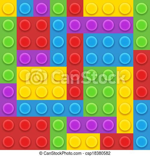 blocks plastic constructor - csp18380582