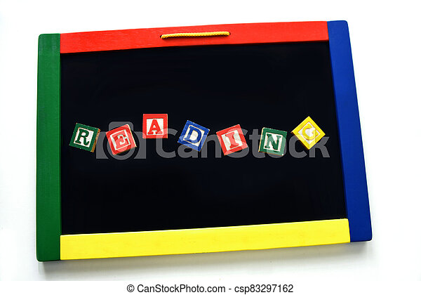 Blocks Spell Reading on Magnetic Board - csp83297162